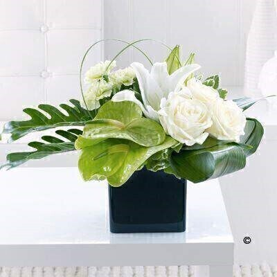 Anthurium Lily and Rose Arrangement: Booker Flowers and Gifts