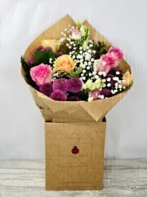 Apricot Rose Hand-tied Bouquet: Booker Flowers and Gifts