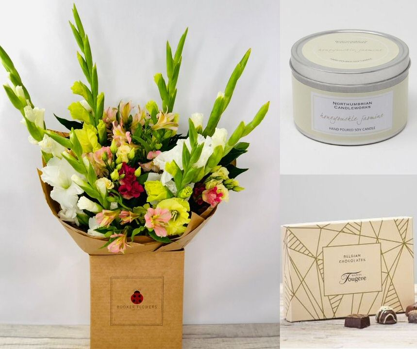 August Birthday Flowers Gift Set: Booker Flowers and Gifts
