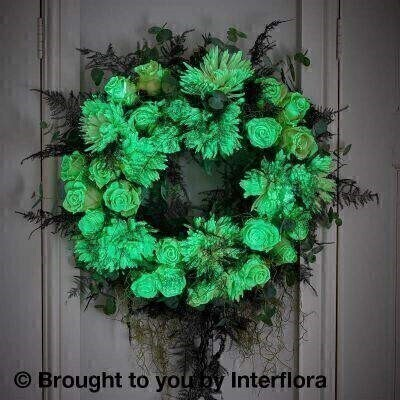 Autumn Ghostly Glow in the Dark Door Wreath: Booker Flowers and Gifts