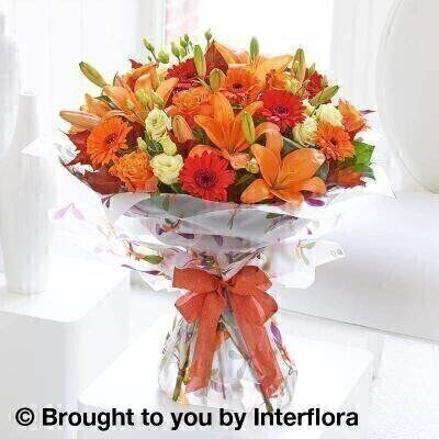 Autumn Glorious Shades Hand-Tied EXTRA LARGE: Booker Flowers and Gifts