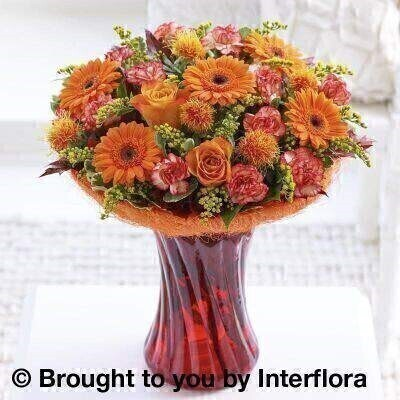 <h2>Autumn Flowers Vase Arrangement</h2>