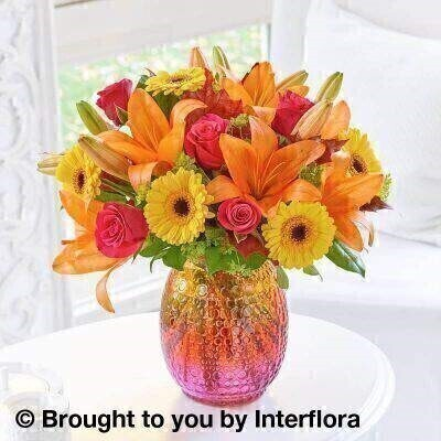 Autumn Sunset Vase - PLUS: Booker Flowers and Gifts