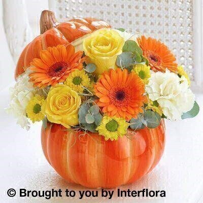 Autumn Trick-Or-Treat Ceramic Arrangement: Booker Flowers and Gifts