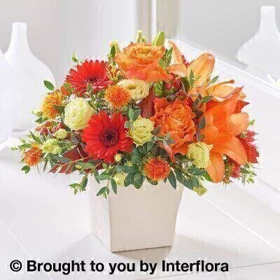 Autumn Warm Harvest Arrangement: Booker Flowers and Gifts