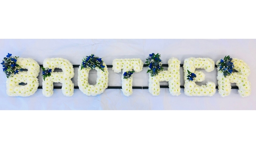 BROTHER White Funeral Letters | Funeral Flowers