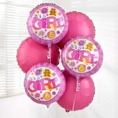 Baby Girl Balloon Bouquet: Booker Flowers and Gifts