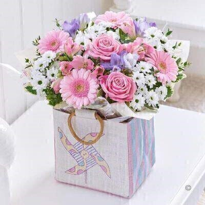 Baby Girl Gift Bag - PLUS: Booker Flowers and Gifts