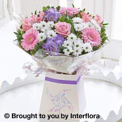 Pink and White Flowers - New Baby Flowers
