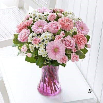 Baby Girl Vase Plus: Booker Flowers and Gifts