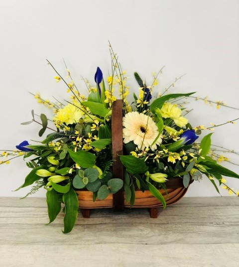 Blossoming Basket of Flowers: Booker Flowers and Gifts