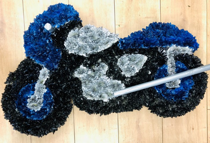 Blue Motorbike Tribute | Funeral Flowers