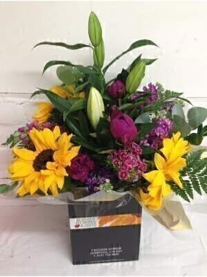 Bright Scented British Flower Hand Tied Bouquet: Booker Flowers and Gifts