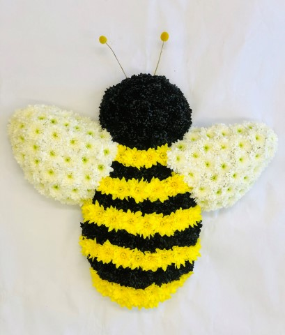 Bespoke Black and Yellow Bee Tribute | Funeral Flowers