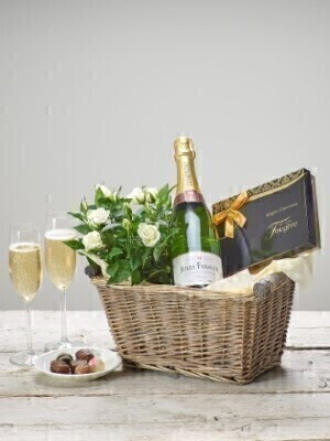 Champagne Gift Basket: Booker Flowers and Gifts
