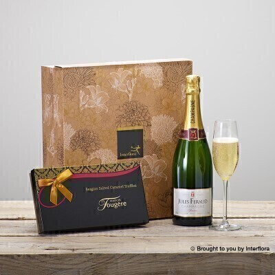 Champagne and Salted Caramels Gift Set: Booker Flowers and Gifts