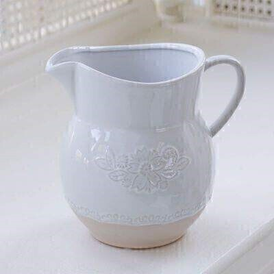 Chantilly Embossed Ceramic Jug: Booker Flowers and Gifts