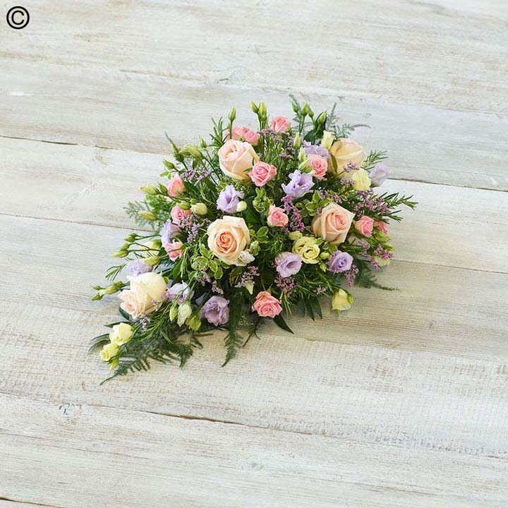 Pink and White Children's Casket Spray | Funeral Flowers