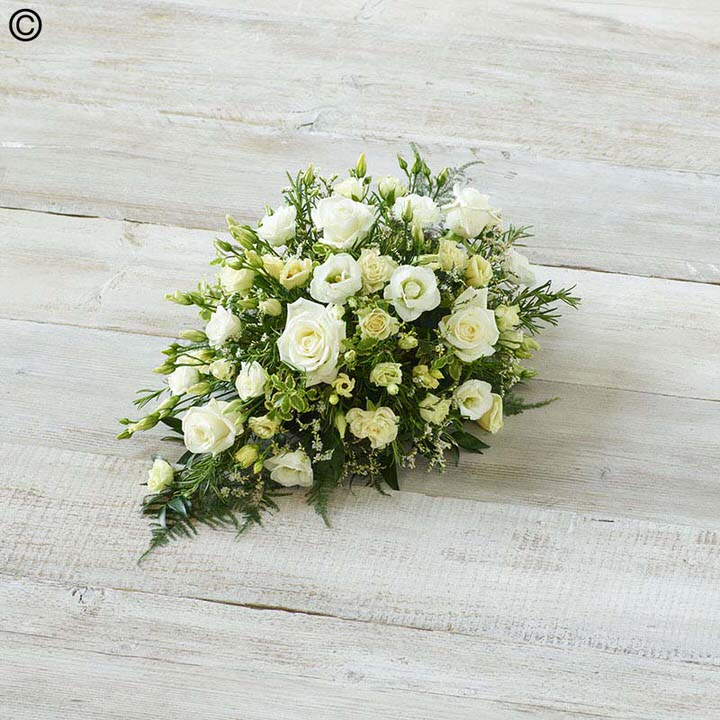 Childrens Casket Spray - White: Booker Flowers and Gifts