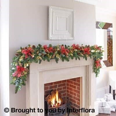 Christmas Festive Favourites Garland - 6ft: Booker Flowers and Gifts