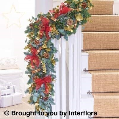 Christmas Festive Favourites Garland - 9ft: Booker Flowers and Gifts