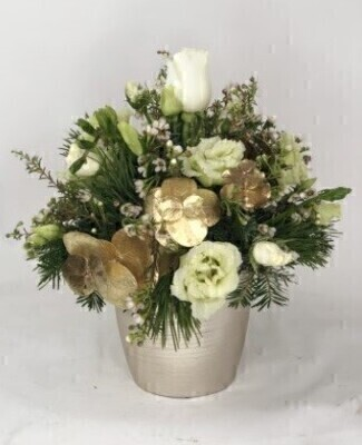 Christmas Scented Shimmer Arrangement: Booker Flowers and Gifts