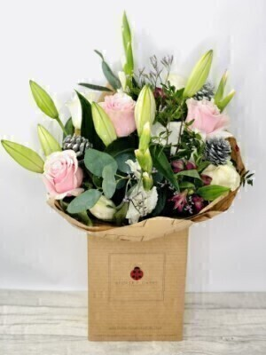 Christmas Seasonal Glamour Hand Tied: Booker Flowers and Gifts
