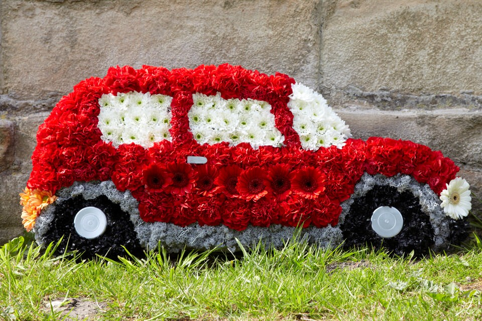 Red Motor Car Tribute | Funeral Flowers