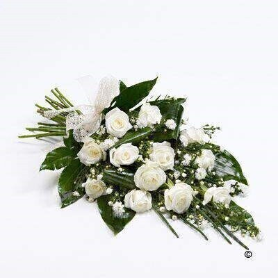 Classic Rose Sheaf - White: Booker Flowers and Gifts