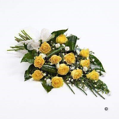 Classic Rose Sheaf - Yellow: Booker Flowers and Gifts