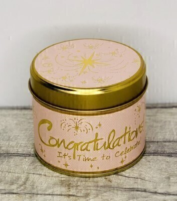 Congratulations Scented Candle By Lily Flame: Booker Flowers and Gifts