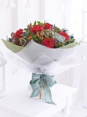 Country Living Spirit of Christmas Hand Tied: Booker Flowers and Gifts