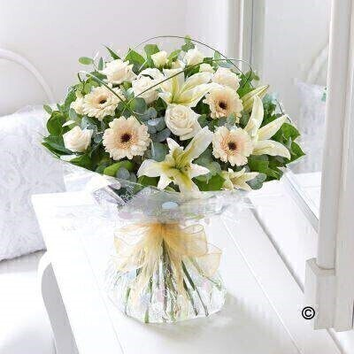 Cream Exquisite Hand-tied: Booker Flowers and Gifts