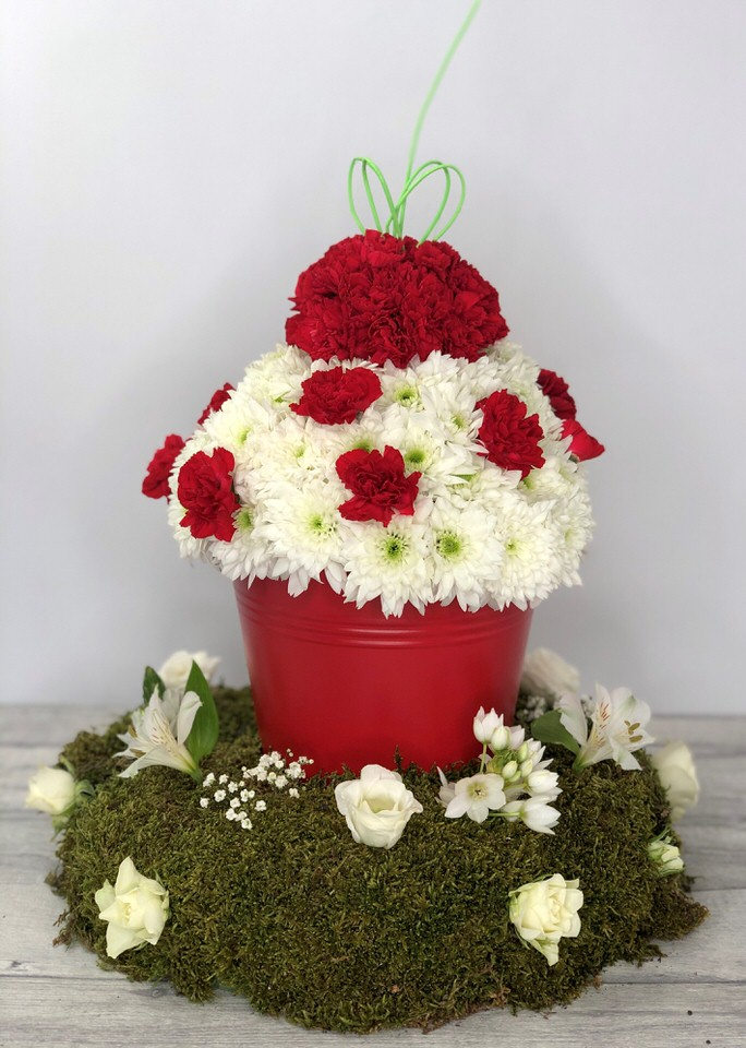 Bespoke Cherry Cupcake Tribute | Funeral Flowers