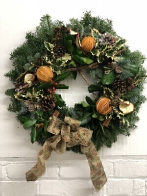 Door Wreath - Handmade Real Wreath