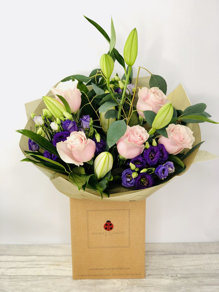 Dreamy Damson Hand Tied: Booker Flowers and Gifts