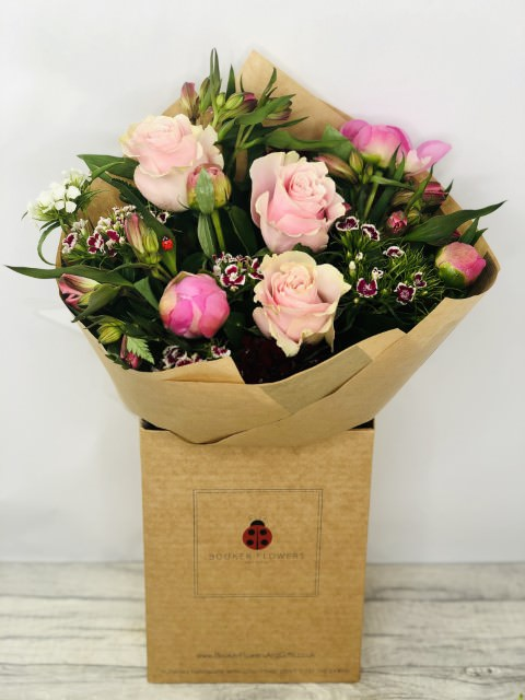 Enchanting Peony Hand-tied Bouquet: Booker Flowers and Gifts