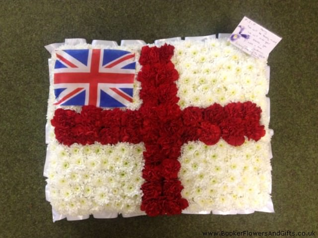 Bespoke English and United Kingdom Flag | Funeral Flowers