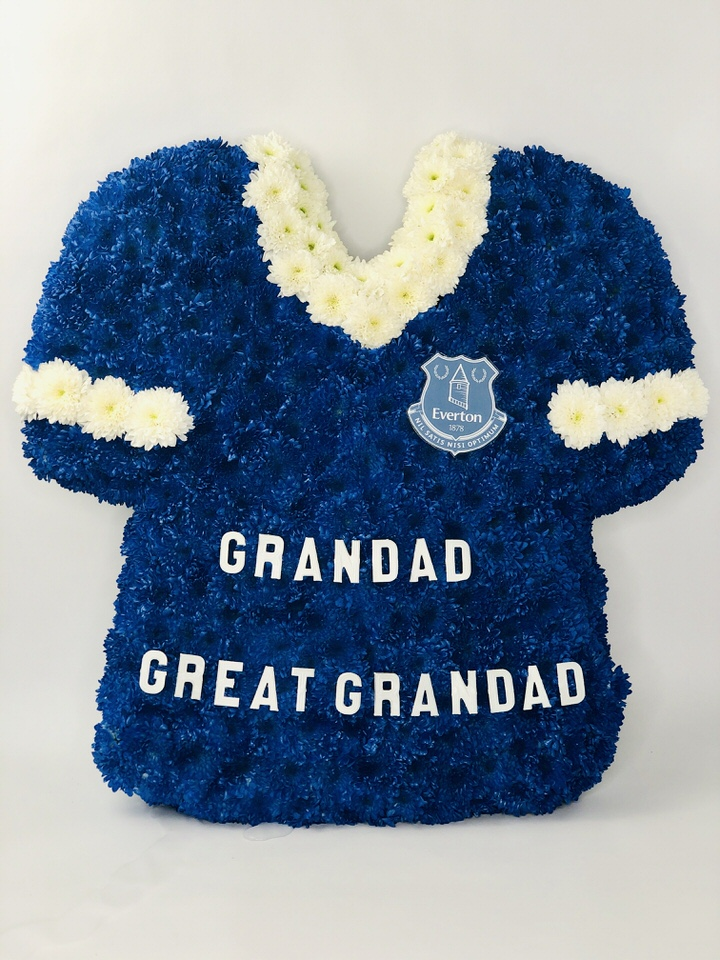 Bespoke Football Shirt | Funeral Flowers