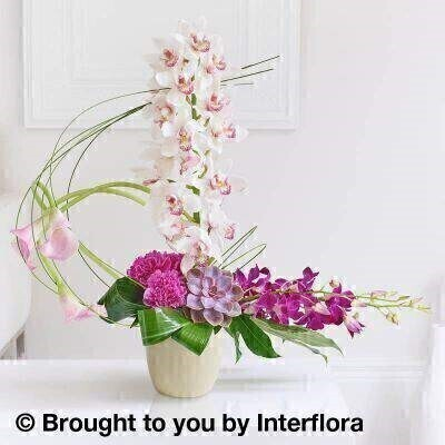 Exotic Orchid and Calla Lily Arrangement: Booker Flowers and Gifts