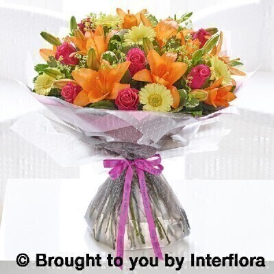 Extra large happy birthday summer sunshine hand tied: Booker Flowers and Gifts