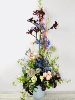 Tall Arrangement of Autumn Flowers