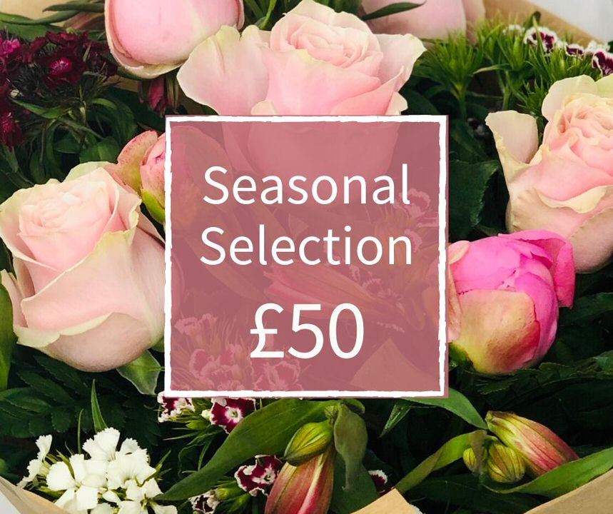 Florist Choice 50 - Seasonal Handtied Bouquet: Booker Flowers and Gifts