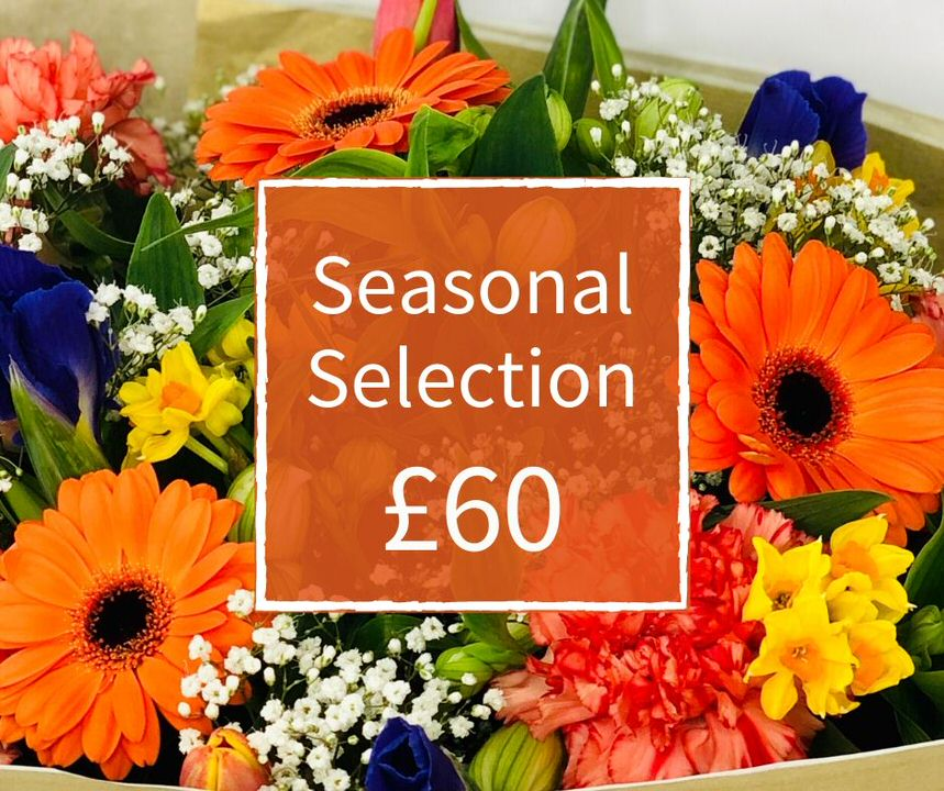 Florist Choice 60 - Seasonal Handtied Bouquet: Booker Flowers and Gifts