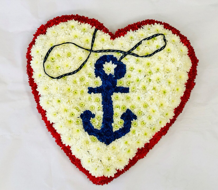 Bespoke Large Personalised Heart-Shaped Design | Funeral Flowers