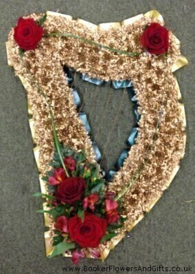 Gold Harp Funeral Flowers: Booker Flowers and Gifts