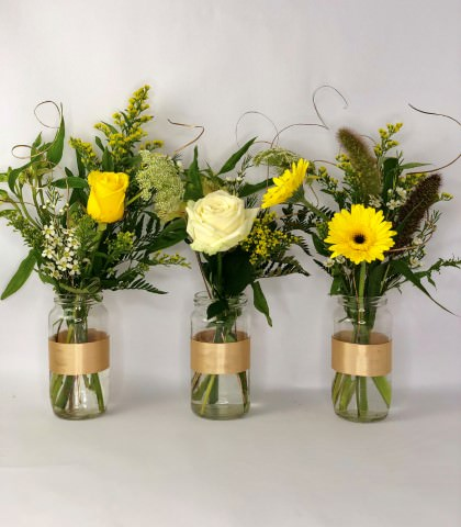 Golden Wedding Anniversary Table Decoration: Booker Flowers and Gifts