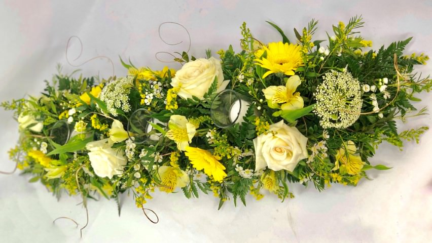 Golden Wedding Large Table Arrangement: Booker Flowers and Gifts