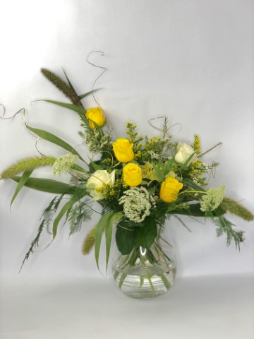 Vase Arrangement for Golden Wedding Anniversary (medium)