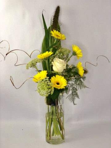 Golden Wedding Vase Arrangement Small: Booker Flowers and Gifts